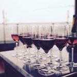Wine Glasses on Table for Restaurants