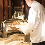 Staff serving bread for Restaurants